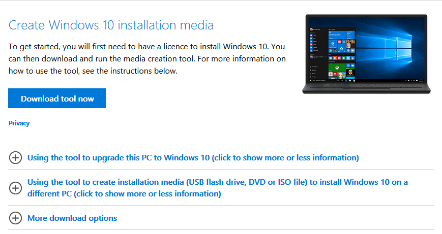 download windows 10 to flash drive