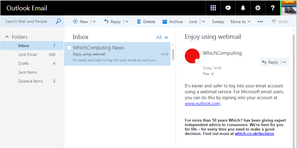 Use webmail instead of Windows Live Mail – Which Computing