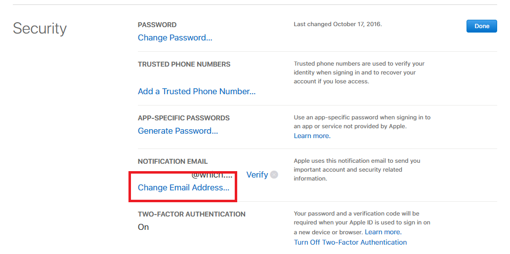 how do i change my apple email address on my iphone