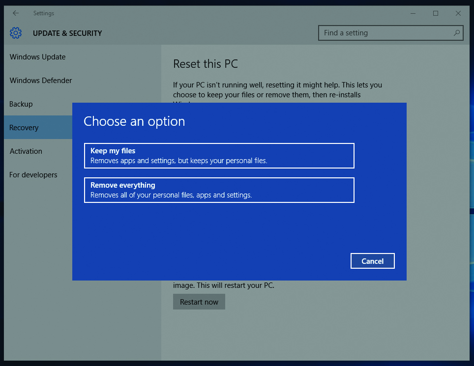 How to factory reset a computer – Which Computing Helpdesk