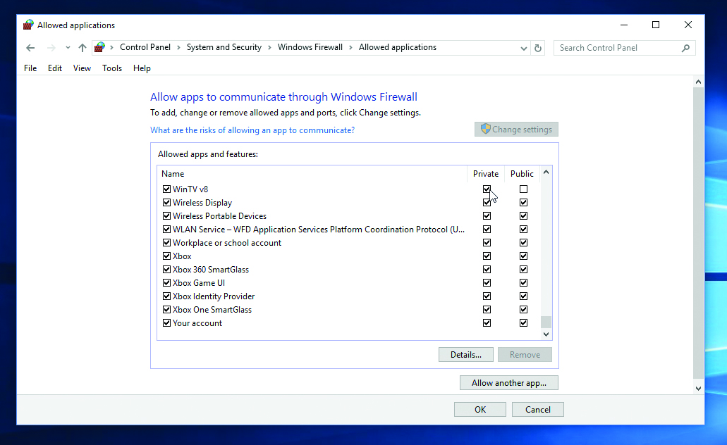 Allow or block programs with the Windows Firewall – Which